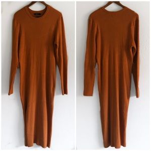 Forever 21 Plus Ribbed Maxi Sweater Dress w/ Belt